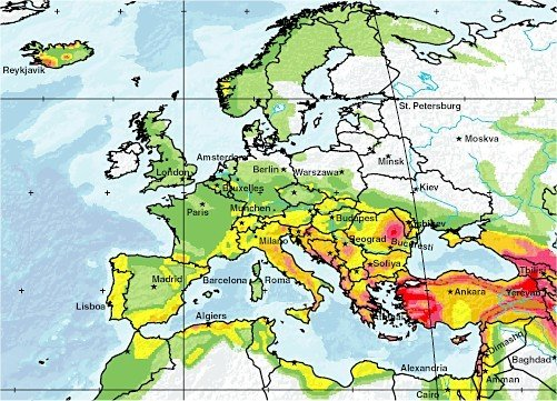 earthquakes today europe