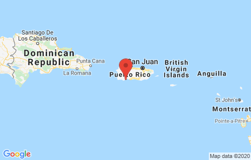 Indios, Puerto Rico earthquake location